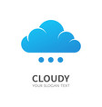 blue cloud isolated logo data storage vector image vector image