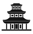 Buddhist temple icon in simple style vector image vector image