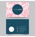 Business card template abstract crystal pink vector image