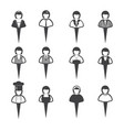 business people icons women vector image vector image