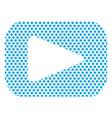 button video player social media youtube vector image vector image
