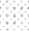 cart icons pattern seamless white background vector image vector image