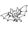 cartoon cute happy vampire bat halloween vector image