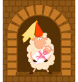 cartoon sheep with baby vector image vector image