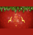 christmas composition holiday wishes on vector image vector image