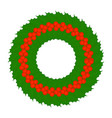 christmas holly berry wreath isolated vector image vector image