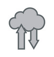 cloud upload download flat icon sign logo vector image vector image