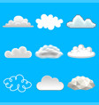 clouds in different styles icons photo realistic vector image