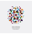 colorful pattern of dots Circular ornament vector image vector image