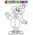 coloring book with happy clown 7 vector image vector image
