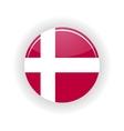 Denmark icon circle vector image