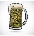 Doodle beer vector image