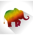 Elephant low poly silhouette