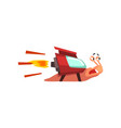 fast snail funny cartoon mollusk character vector image vector image