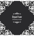 Filigree square frame vector image vector image