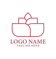 floral and flower logo icon design vector image