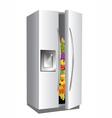 fridge on white background vector image vector image