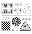 games digital stamps vector image