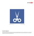 halloween scissors icon - blue photo frame vector image