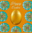 happy easter isolated on golden background vector image
