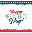 happy presidents day label vector image vector image