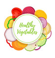 healthy vegetables vegetarian collection vector image