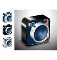 icon button camera photo lens multimedia vector image vector image