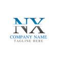 initial monogram letter nx logo design template vector image vector image