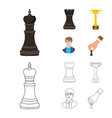isolated object of checkmate and thin logo vector image