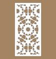 laser pattern decorative panels for laser vector image vector image