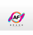 letter af initial logo with colorful