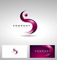letter s shape vector image vector image