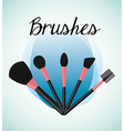 make up brushes vector image