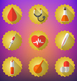 Medical Flat Icon Set Include heart blood drop vector image vector image