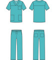 medical suit vector image vector image