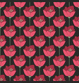 Midnight red flowers seamless background