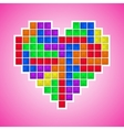 Old video game heart vector image