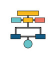 organization chart isolated vector image