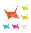 origami cranes vector image vector image