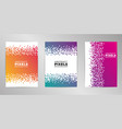 pixel cover design background set a4 format vector image vector image