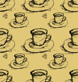 seamless coffee pattern background vector image vector image
