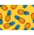 Seamless pattern with pineapples Tropical vector image