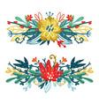 set floral bouquets vector image vector image