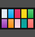 set gradient backgrounds material design vector image vector image