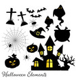 Set of halloween elements and symbols