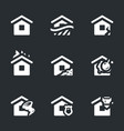 set of housing accident icons vector image
