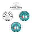 Set of plumbing and heating vintage labels Outdoor vector image