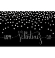 Silver textured Happy Valentines day inscription vector image vector image