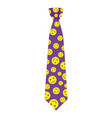 smiley tie icon flat style vector image