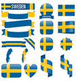 Sweden flags vector image